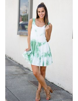 Karlie Karlie Tie Dye Tier Tank Dress