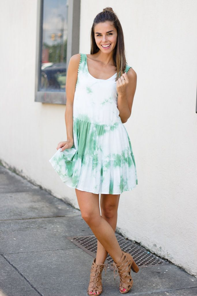 Karlie Karlie Tie Dye Tier Tank Dress