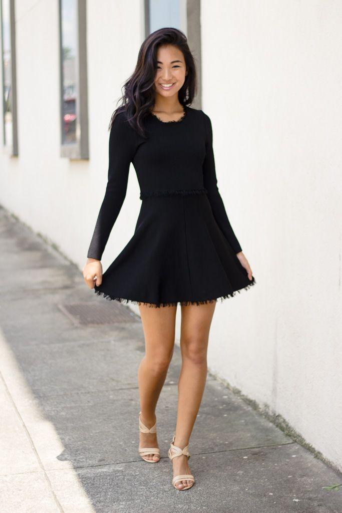 Karlie Karlie Mod Fringe Zip Back Dress