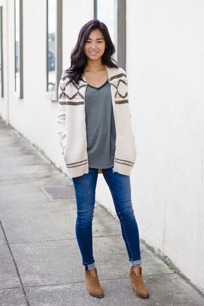 Zip Front Sweater with Pockets