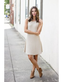 Very J Fit and Flare Sweater Dress