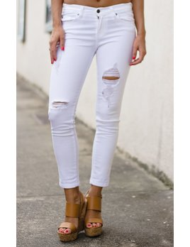Karlie Karlie Distressed Cropped Jeans