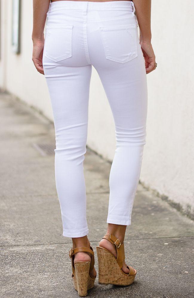 Karlie Distressed Cropped Jeans