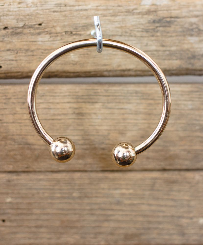 Metal Cuff with Ball Ends