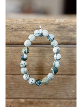 Natural Stone Bead Stretch Bracelet
