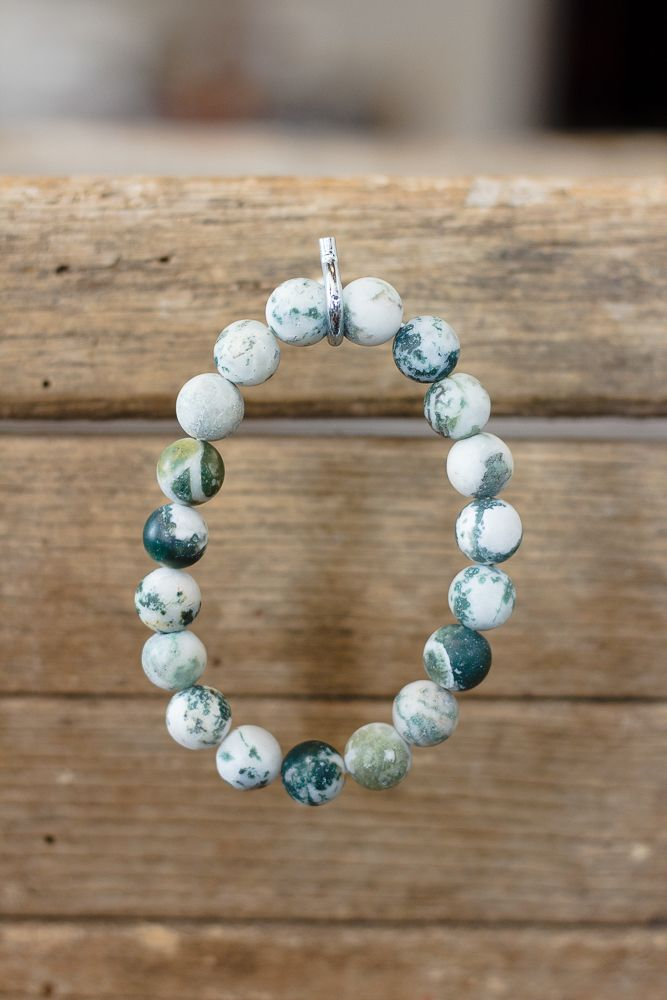 Natural Stone Bead Stretch Bracelet