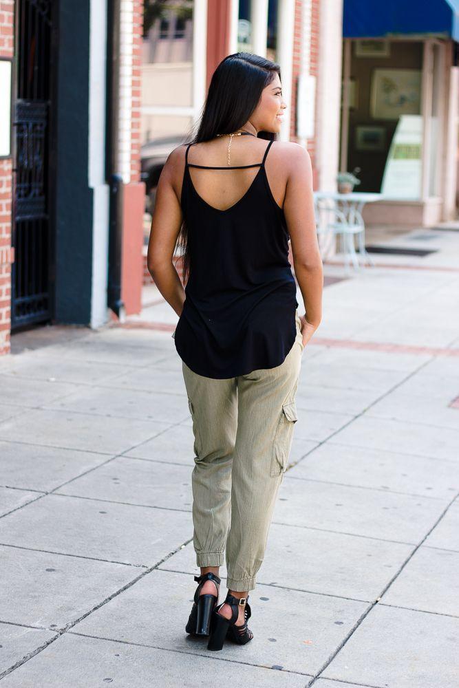 Karlie Karlie Chambray Pocket Jogger Pant