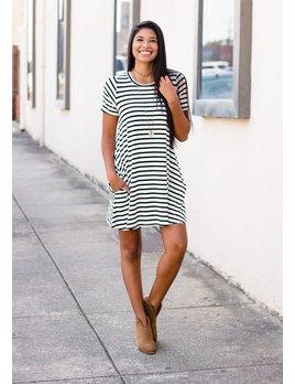 Karlie Karlie Stripe Pocket Knit Dress