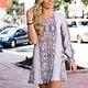 Karlie Karlie Snake One Shoulder Dress