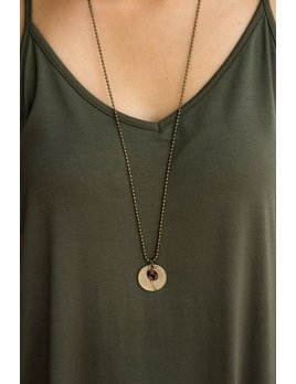 World Links Long Coin Necklace