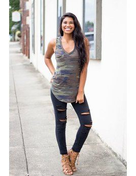 Z Supply Z Supply The Camo Pocket Racer Tank