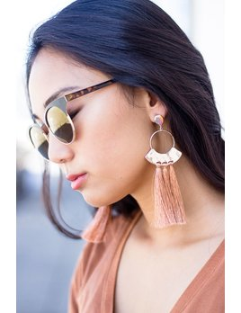 Tassel and Circle Earrings
