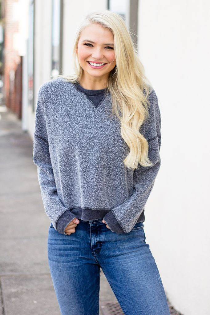 Z Supply The Reverse Fleece Cropped Pullover