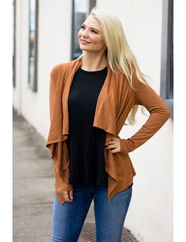 Z Supply Z Supply The Suede Waterfall Cardigan