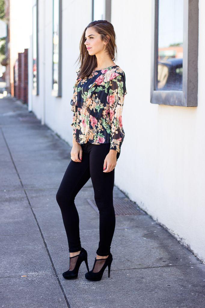 Karlie Floral Ruffle Blouse