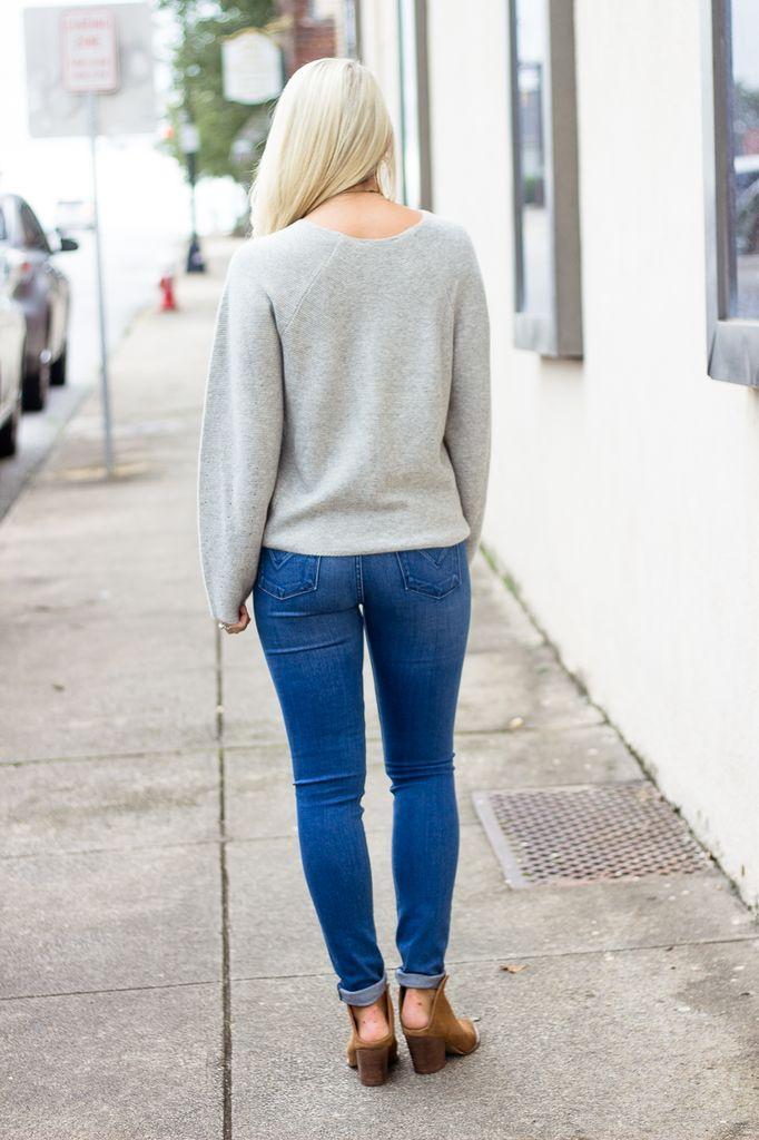 Karlie Scoop Oversized Sweater