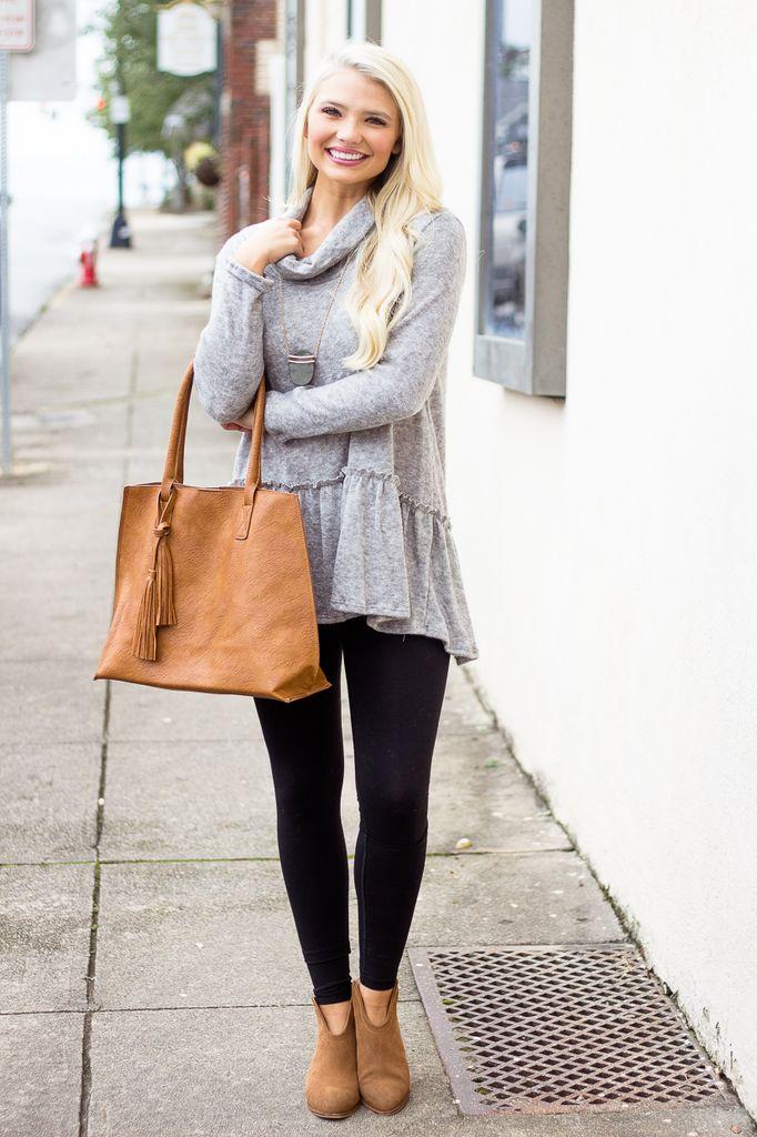 Karlie Karlie Turtleneck Sweater with Ruffle Hem