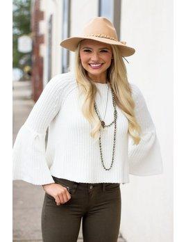 Karlie Shaker Knit Funnel Sleeve Sweater