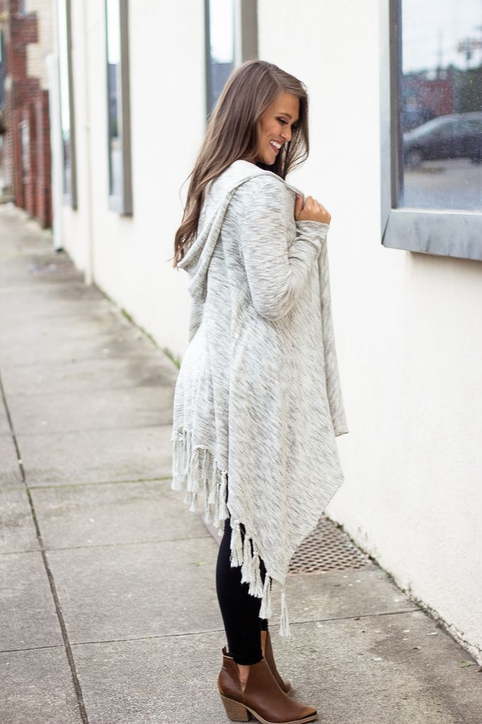 Karlie Cable Knit Fringe Sweater Cardigan