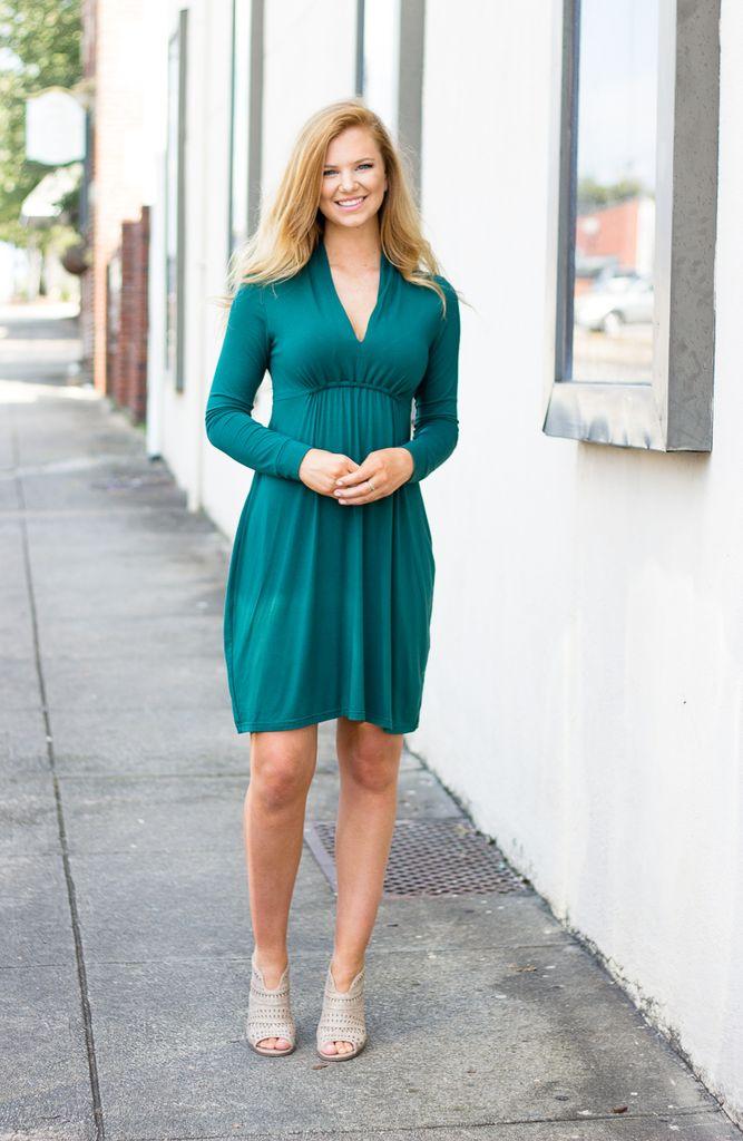 Sharon Long Sleeve Cinched Waist Dress