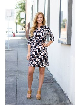 Onyx Printed Shift Dress