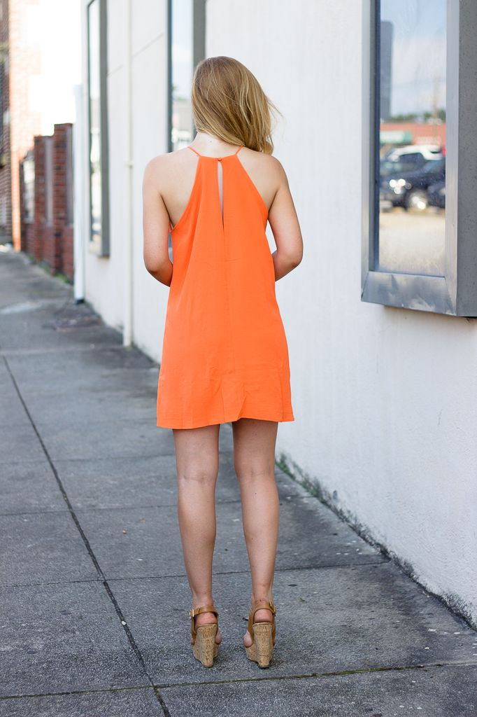 Halter Neck Dress with Stitch Detail