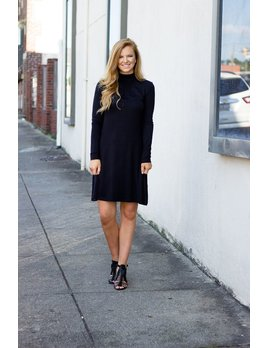 Diamond Mock Neck Knit Dress