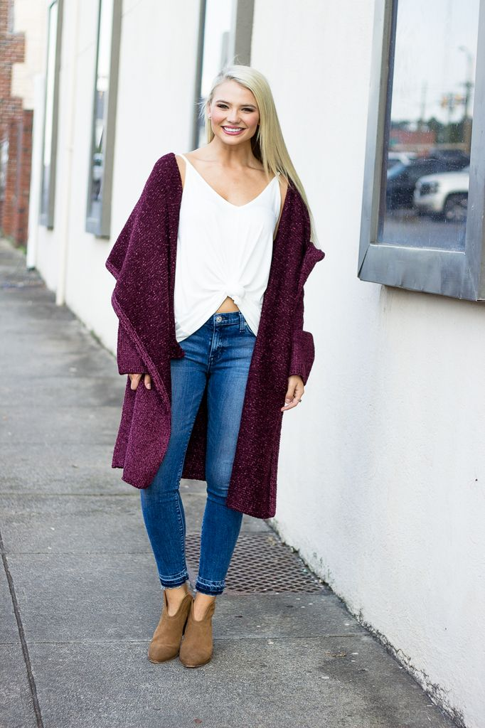 Karlie Karlie Sweater Pocket Tunic Cardigan