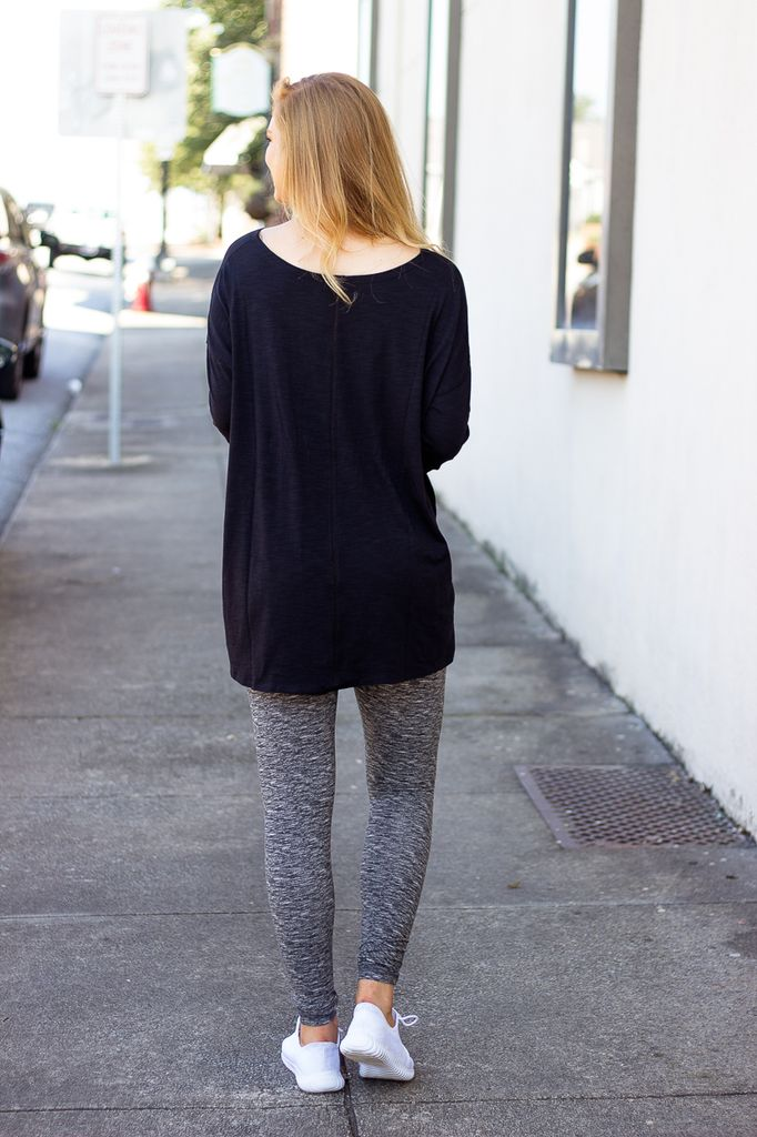 Balance Loose Fit Long Sleeve Slubbed Tee