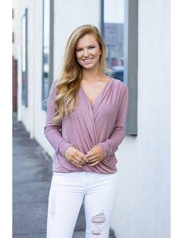 Karlie Solid Wrap Long Sleeve Top