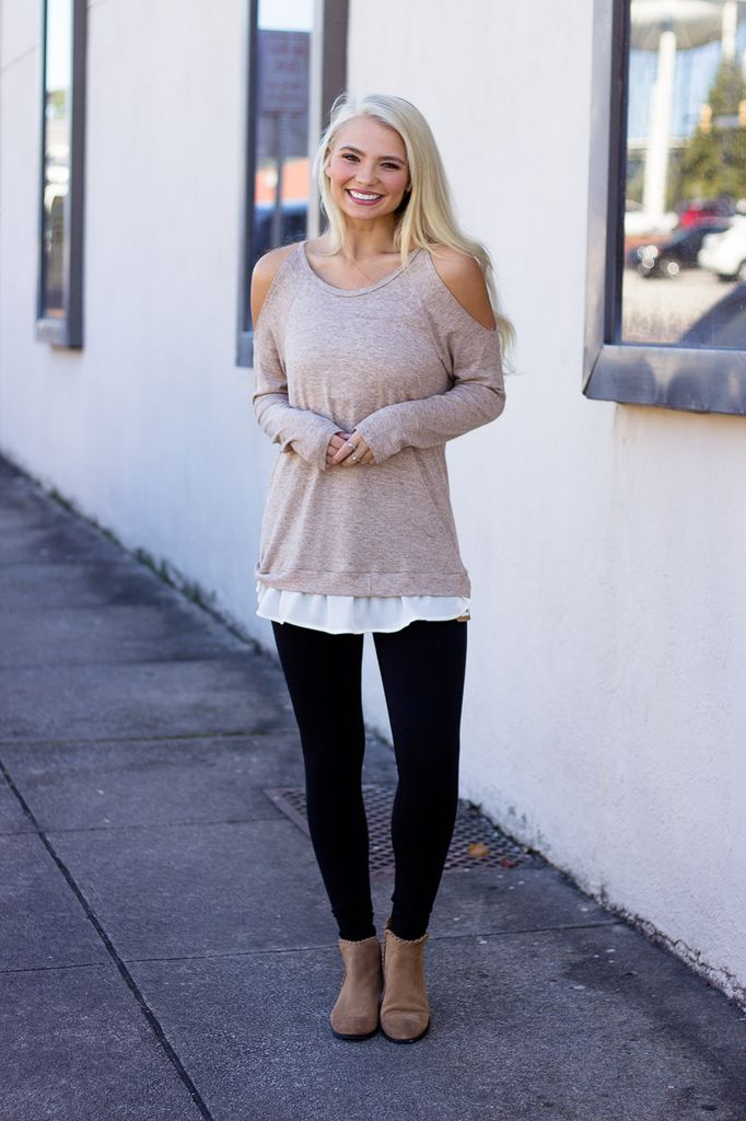 The Oliva Cold Shoulder Sweater