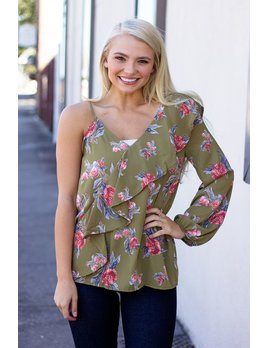 The Melany Floral Print Blouse
