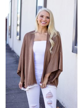 The Zenia Suede Cardigan