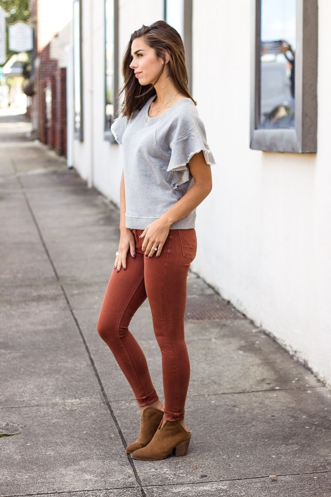 Karlie Vintage Flutter Sleeve Sweatshirt