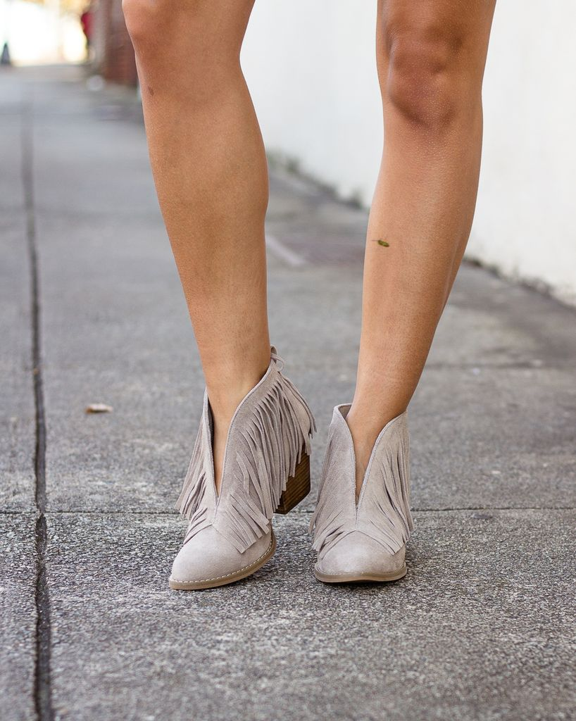 Traverse Suede Fringe Ankle Bootie