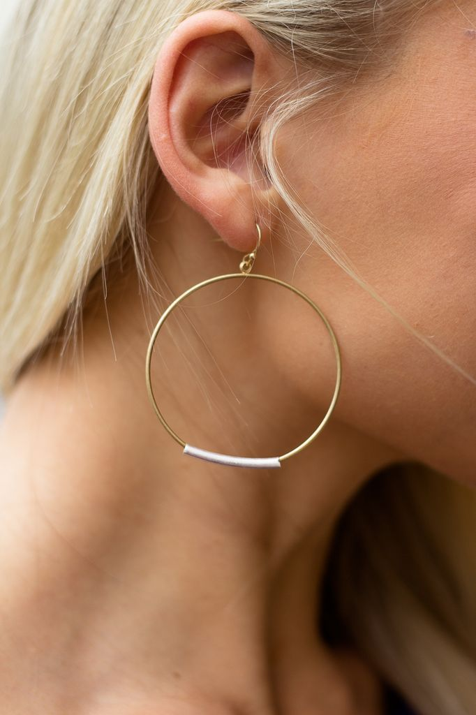 Tube and Ring Earrings