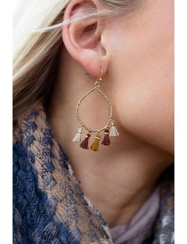 Tiny Tassel Drop Earrings