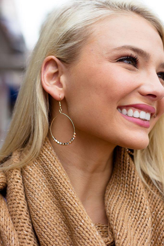 Beads Teardrop Earrings