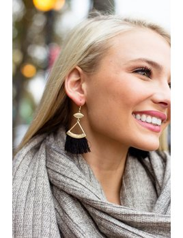 Triange and Tassel Earrings