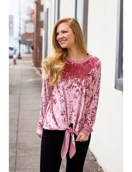 The Camila Velvet Knot Front Top