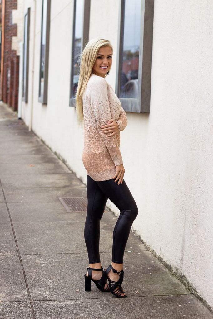 THML Metallic Ombre Sweater