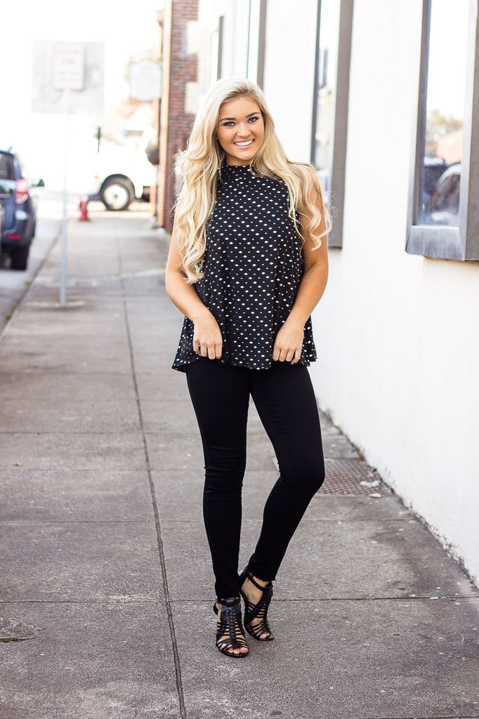 The Laurie Diamond Printed Blouse