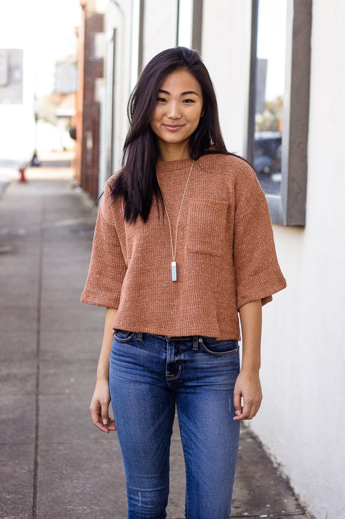 THML Lounge Knit Sweater with Oversized Pocket