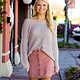 She & Sky Faux Suede Button Down Skirt