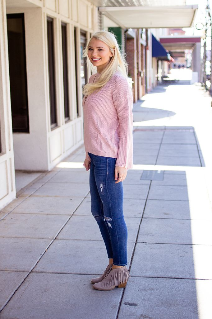 Bell Sleeve Relaxed Fit Sweater