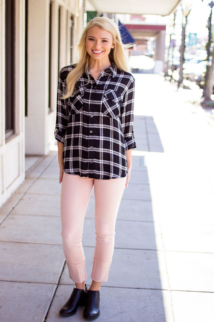 Button Up Flannel Top