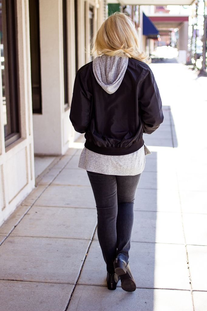 Bomber Jacket with Side Pockets