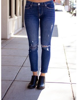 Hudson Tally Midrise Skinny Crop in Imperial