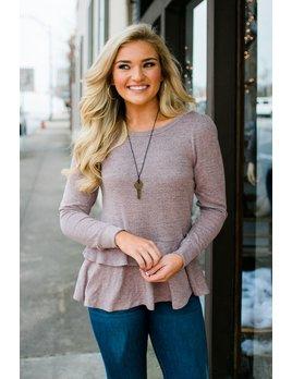 Long Sleeve Ruffled Sweater