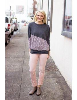 Diagonal Color Block Sweater